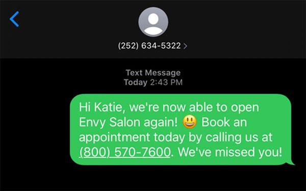 spa text campaign
